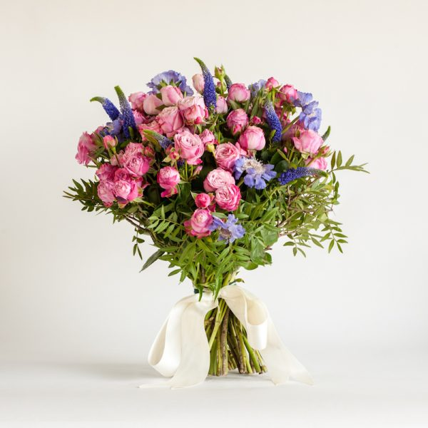 Magical Mystery Bouquet - Diana veronica, Lady bombastic spray Roses, Scabiosa Staefa and greenery