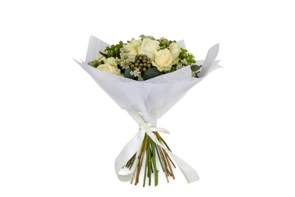 Desire Bouquet, white rose bouquet, next day delivery