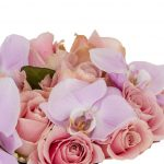 Soft Pink Bouquet - rose and orchid bouquet of subtle pinks and purples